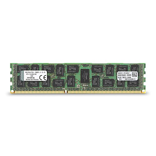 Kingston Technology 16GB (1x16 GB) 1333MHZ DDR3 PC3-10600 Reg ECC Low Voltage DIMM for Select HP/Compaq Servers KTH-PL313LV/16G (Ecc Memory Reg Dimm)