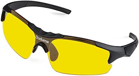 Duduma Yellow Night Vision Polarized Sunglasses Glasses for Driving Fishing Shooting Multicolor Frame Uv400