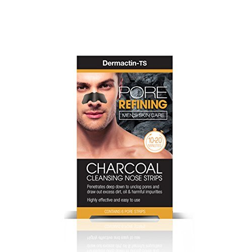 Dermactin TS Men's Pore Refining Charcoal Nose Strips 6-Count (Pack of 2) Fiske Industries