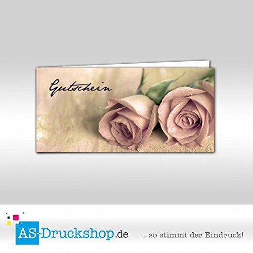 Gutschein Floristik - Rosangemälde   100 Stück     DIN Lang B0794Z8DXY | Moderate Kosten  01a532