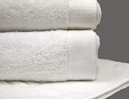Garnier-Thiebaut Towels Luxury Plush Soft White Bath Sheet Towel 39 x 59 Set of 2