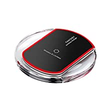 Wireless Charger Charging Pad Mat For iPhone or Samsung S6/S6edge Mirco USB - Black