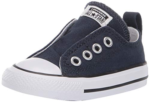 Converse Boys Infants' Chuck Taylor All Star Low Top Slip On Sneaker, Athletic Navy, 3 M US -