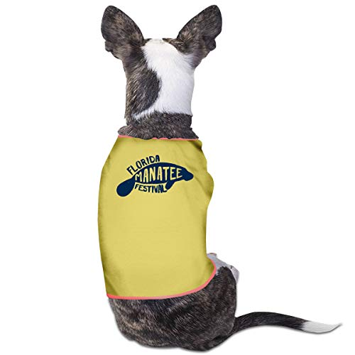 Nicokee Puppy Dogs Shirts Costume Manatee Festival Pets Clothing Warm Vest T-Shirt L -