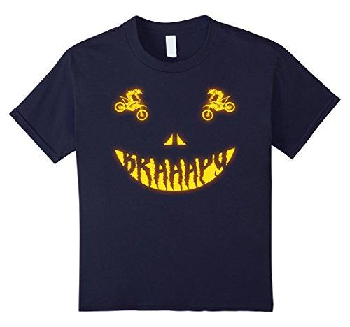 Kids Halloween Costume Motocross Dirt Bike Scary Face T-shirt 12 (Motocross Halloween Costumes)