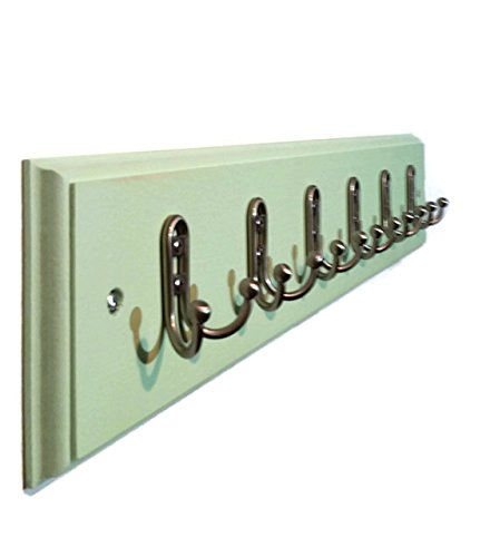 Renewed Décor Countryside Rustic Wall Mounted Clothing or Towel Rack, Available in 3 to 10 Hooks, Choose from19 Colors