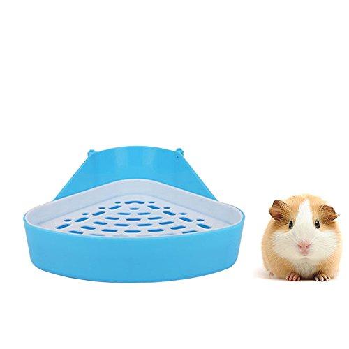 HongYH Pet Small Rat Toilet, Square Potty Trainer Corner Litter Bedding Box Pet Pan for Small Animal/rabbit/guinea Pig/galesaur/ferret (triangle)