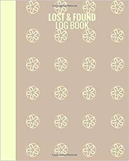amazon com lost found log book lost found template record