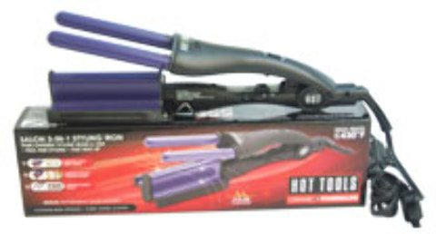 Hot Tools - Ceramic Tourmaline Salon 3-In-1 Styling Iron - Model # 2180CN - Purple/Black (1 Pc) 1 pcs sku# 1898236MA