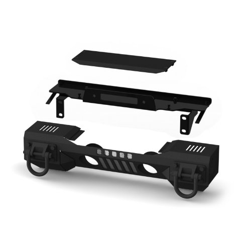 Rugged-Ridge-1154101-Aluminum-Front-XHD-Bumper-with-Winch-Plate-For-Select-Jeep-Wrangler-JK-Models