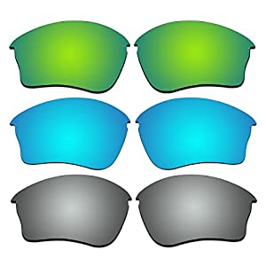 3 Pair Replacement Polarized Lenses for Oakley Half Jacket XLJ Sunglasses Pack P39
