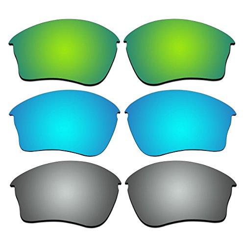 3 Pair Replacement Polarized Lenses for Oakley Half Jacket XLJ Sunglasses Pack - Oakley 1.0 Half Lenses Jacket