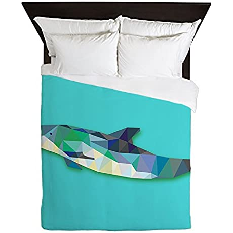 Queen Duvet Cover Triangle Dolphin