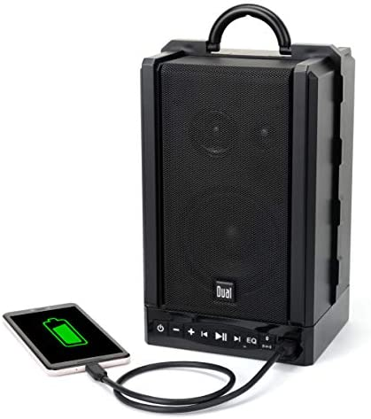Dual Electronics LU48BTS Wireless Portable Bluetooth Speakers | TruWireless Stereo | 100ft Wireless Range | Loud & Deep Rich Bass | 12 Hour Playtime | IPX4 | No Wires Needed | Sold in Pairs 41qv9pVya2L