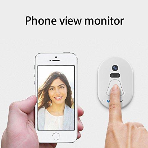 Facebabyone Home Door Ring WiFi Wireless Visual Camera Smart Doorbell Security Monitor