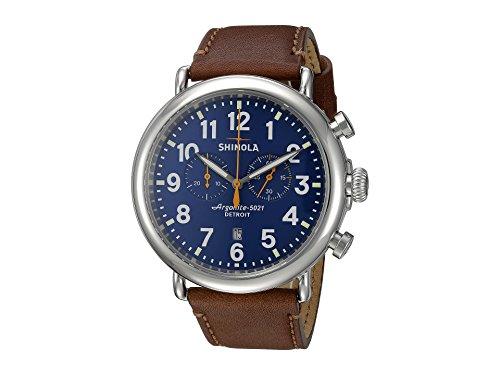 Shinola Detroit Men's The Runwell Chrono 47mm - 10000047 Blue/Dark Brown Watch