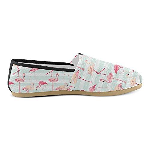 M-story Fashion Sneakers Flat Pink Flamingo Donna Classico Slip-on Scarpe Di Tela Mocassini