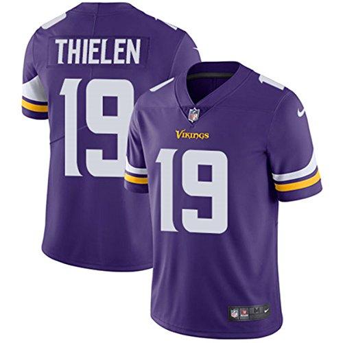 NIKE Men's Minnesota Vikings #19 Adam Thielen Purple Home Football Jersey (L) Nike Embroidered Football Jersey