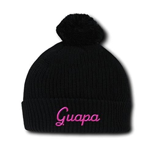 Pink  (Black Spanish Hat With Pompoms)