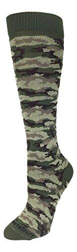 Camo Pattern Over the Calf Socks (Green Camo, Small)