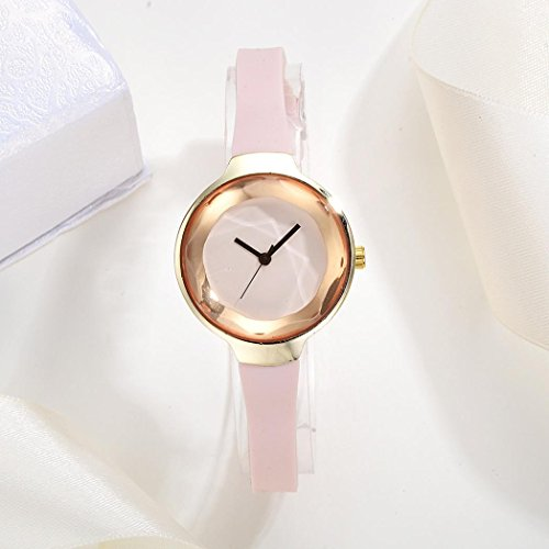 Livoty Luxury Women Fashion Leather Band Analog Quartz Round Wrist Watches (Mop Quartz Watch)