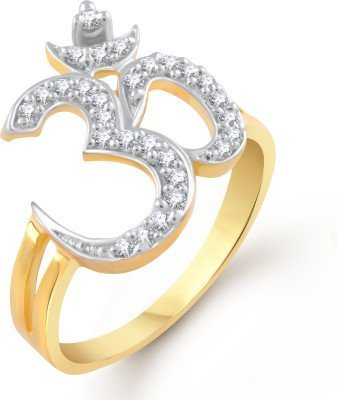 Buy Meenaz Om Ring American Diamond Valentine Heart For Love Fancy