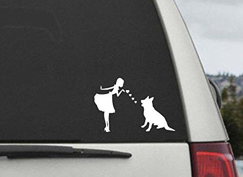 Shepherds and Pearls Decal Vinyl Sticker|Cars Trucks Vans Walls Laptop| WHITE |5.5 x 3.75 in|CCI606 - German Shepherd Decal