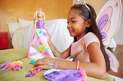 Barbie FJD08 - Dreamtopia 3-in-1 Fantasie Puppe, Fee Meerjungfrau und Prinzessin, Puppen Geschenkset mit Zubehör, Mädchen Spielzeug ab 3 Jahren