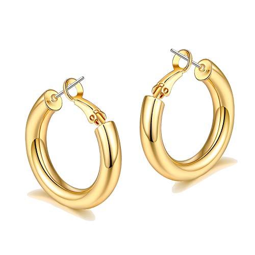 sovesi Chunky Gold Hoop Earrings for...