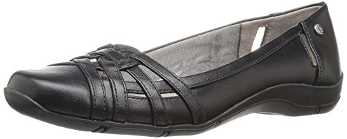 - LifeStride Women's Diverse Flat, Black, 9 W US