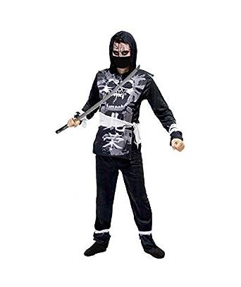 Disfraz Ninja Zombie Negro Talla S: Amazon.es: Ropa y accesorios