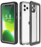 SPIDERCASE Designed for iPhone 11 Pro Case, Built-in Screen Protector Clear Full Body Heavy Duty Protection Shockproof Anti-Scratched Rugged Case for iPhone 11 Pro 5.8 inch 2019