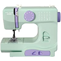 Janome Easy-to-Use 10-Stitch Portable Compact Sewing Machine with Free Arm (Mint)