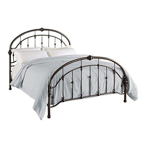 Dorel Living Queen Metal Bed, Antique Pewter by Dorel Living