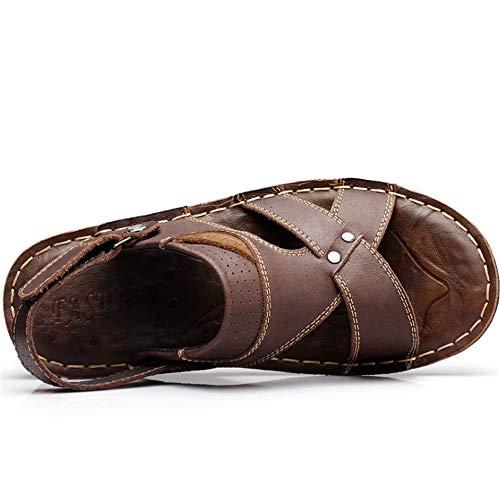 Antiscivolo Colore spiaggia All'aria Fresche Da Con Marrone 3 Il Pantofole E Wagsiyi Nero Aperta 1 pantofole Libero Sandali Da EU Dimensione Spiaggia Tempo da Uomo Per Scarpe Scarpe 39 ARq16