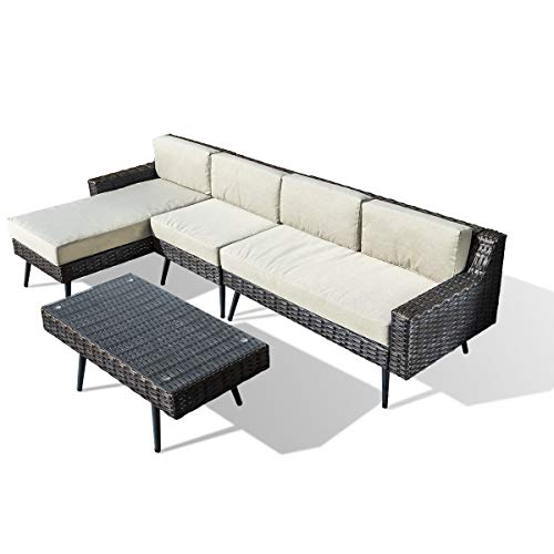 Amazon.com : Pamapic Outdoor 4 Pieces Patio Furniture Sets ...