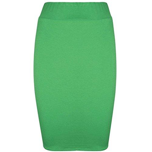 Be Jealous - Jupe moulante extensible jersey pour femmes - Vert, 40/42