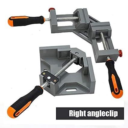 Delisouls Pince /à Angle Droit Outils Pinces /à Angle Droit Pince /à Angle Droit Support pour Travail du Bois Cadre Photo /étau pour Soudure