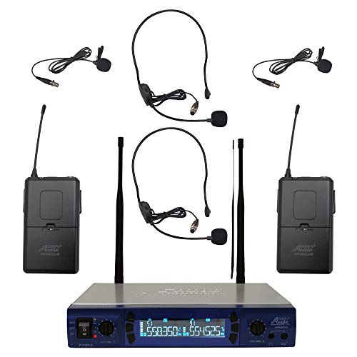 Audio2000's 6952umh UHF 200 Frequency Portable Wireless Lavalier/headset Microphone from Audio 2000S