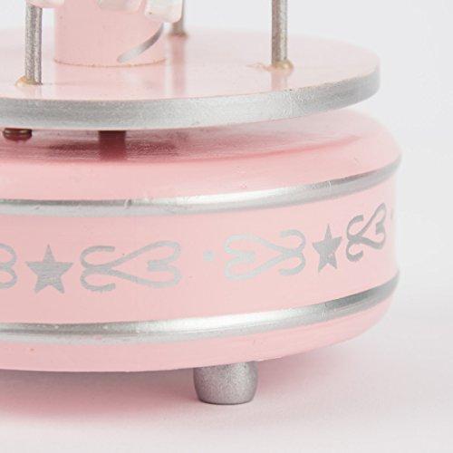 Clayre eef 6MB0007 &décoration chaîne karusell boîte à musique en forme de rose env. ø 10 x 20 cm
