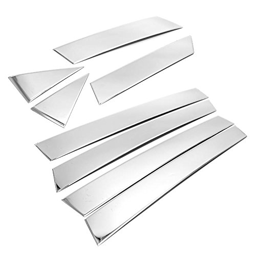 (eRushAutoparts Ultra Chrome Stainless Steel Pillar Posts Accent Covers For 2013-2018 Nissan Altima 8pcs)