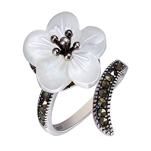 - Lotus Fun S925 Sterling Silver Exclusive Flower Rings Vintage Open Ring Handmade Natural Jewelry Unique Gifts for Women and Girls