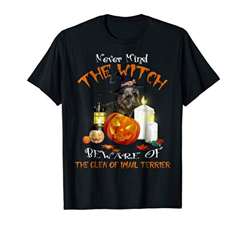 Glen of Imaal Terrier halloween Never Mind The Witch Beware for $<!--$16.89-->