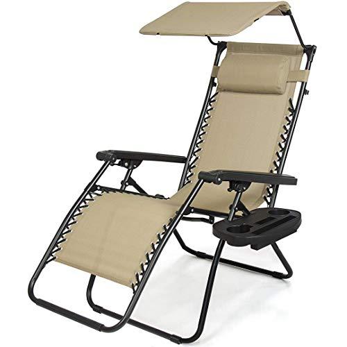 koonlert14 Zero Gravity Chair Outdoor Patio Porch Recliner S