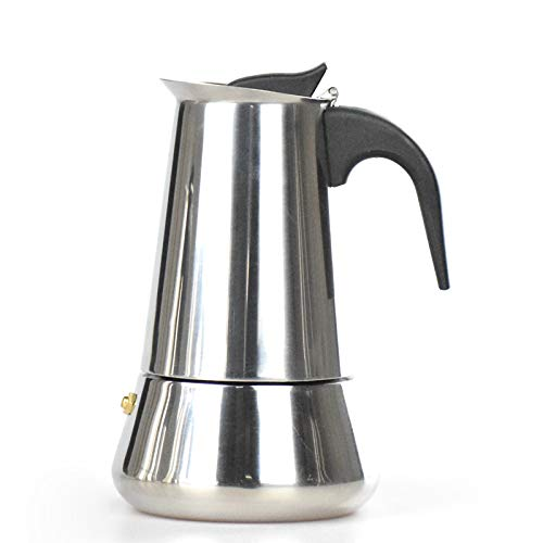 Cafetera moka de acero inoxidable para hacer café o café ...