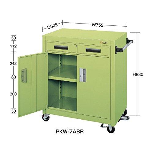 サカエ パネルワゴン(フットブレーキ付) PKW-7ABR B06WGPZLVK
