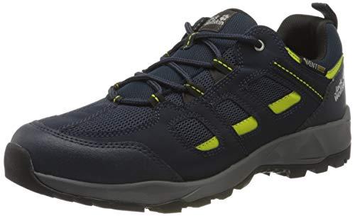 Jack Wolfskin Zapatos Vojo Hike XT Vent Low M Rise para hombre, azul oscuro / lima, 13.5