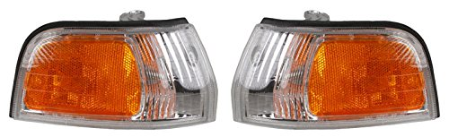 93 Honda Accord Corner (Side Marker Parking Turn Signal Corner Lights Pair Set for 92-93 Honda Accord)