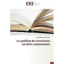 Le syndicat de communes en droit camerounais