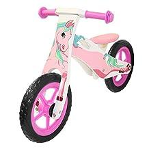 Kobe 40-20006 Wooden Balance Bike, Pink/white